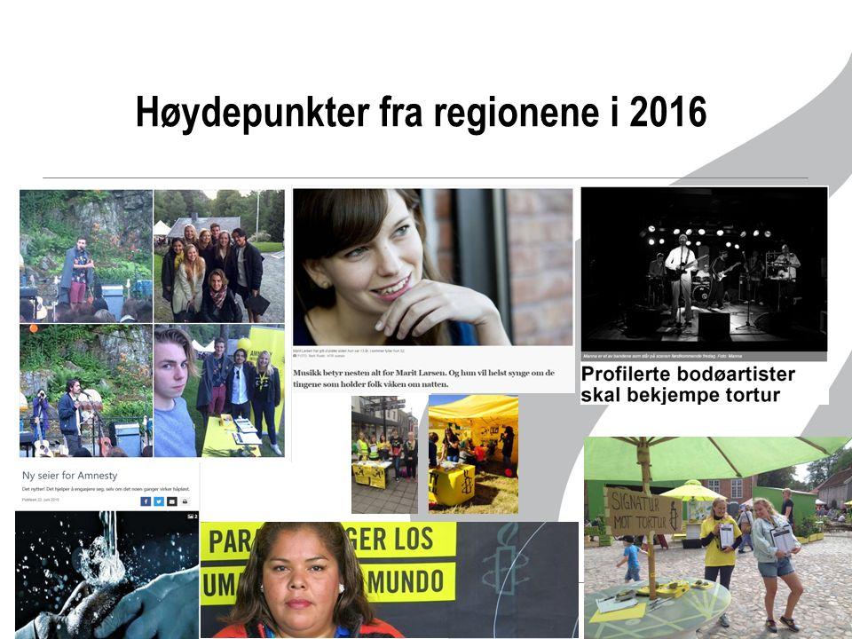Høydepunkter fra regionene i 2016