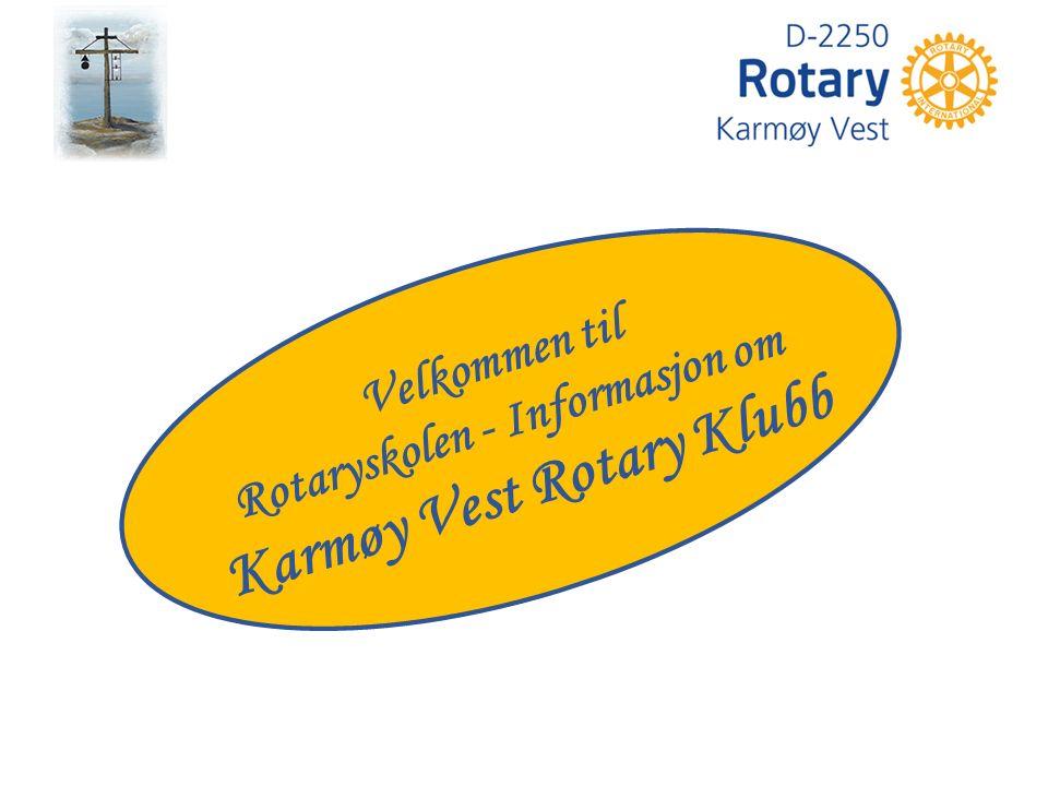 Velkommen til Rotaryskolen - Informasjon om Karmøy Vest Rotary Klubb