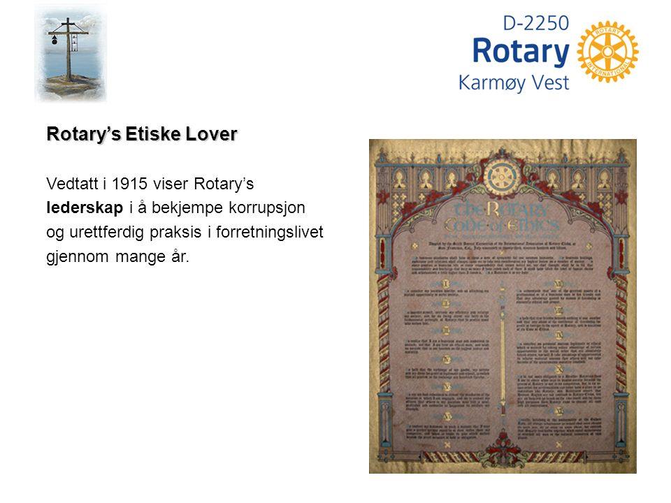 Du er ditt yrkes representant i Rotary - og Rotary's representant i ditt yrke Yrkesklassifisering Klassifiseringsbasert medlemskap var et av Rotary's suksessrike kjennetegn og dannet grunnlaget for en svært sterk vekst de første årene