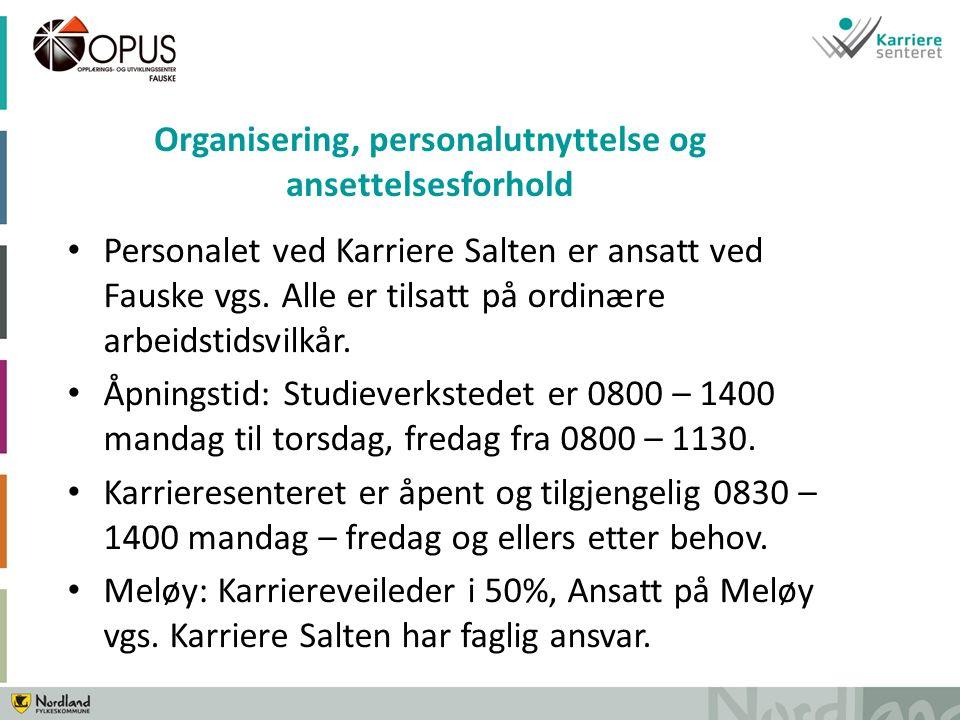 Personalet ved Karriere Salten er ansatt ved Fauske vgs.