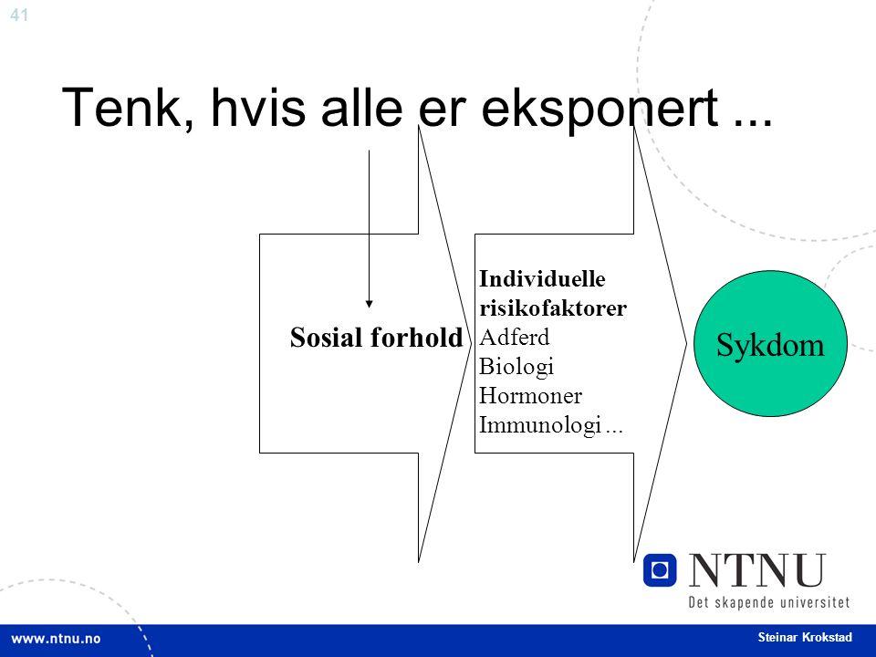 41 Steinar Krokstad Tenk, hvis alle er eksponert...