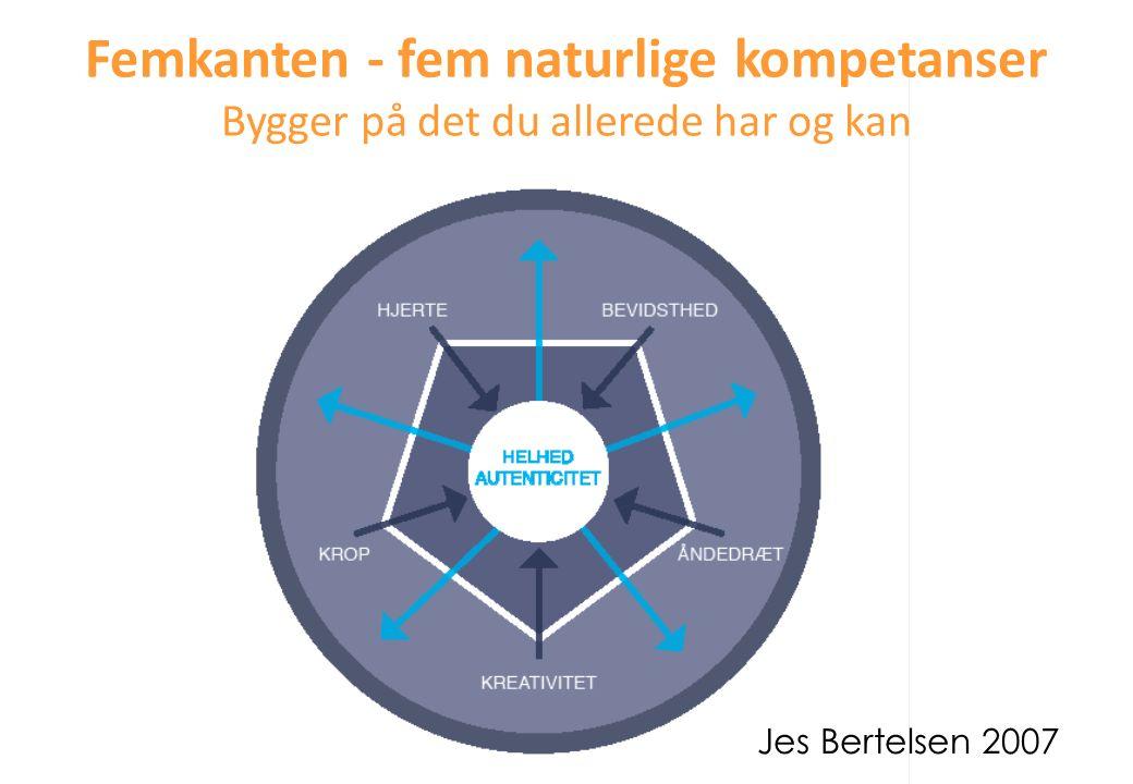Femkanten - fem naturlige kompetanser Bygger på det du allerede har og kan Jes Bertelsen 2007