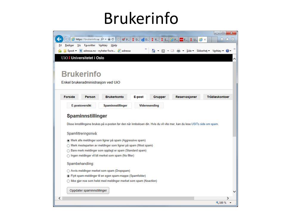 Brukerinfo