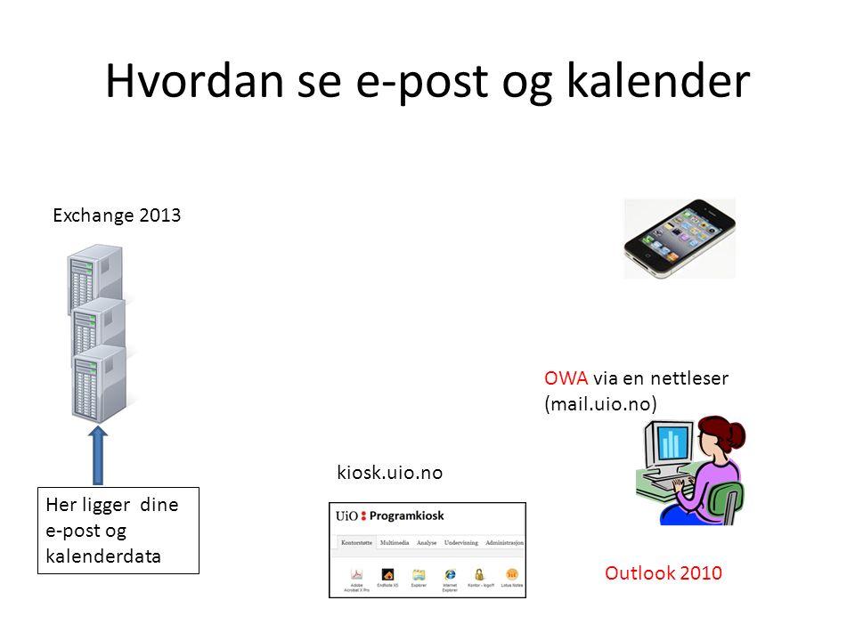 Versjoner Outlook 2010 Outlook 2013 Outlook 2016 Office 365 ? Exchange 2013 Exchange 2016 ?