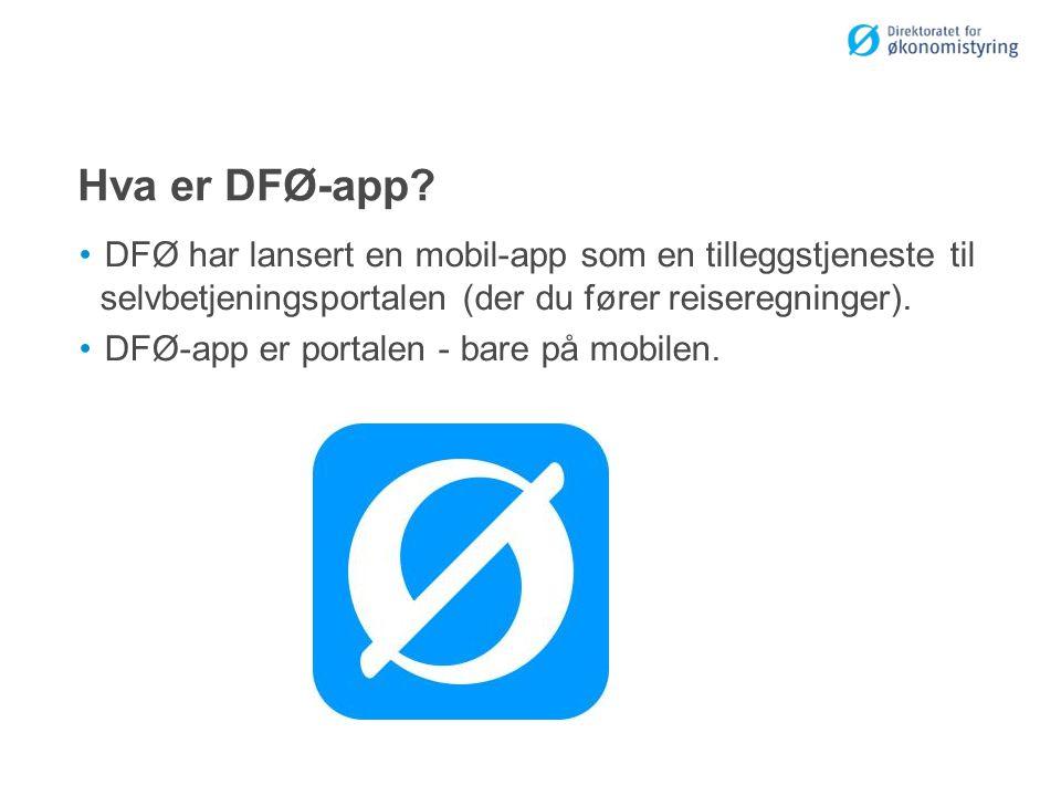 Hva er DFØ-app.
