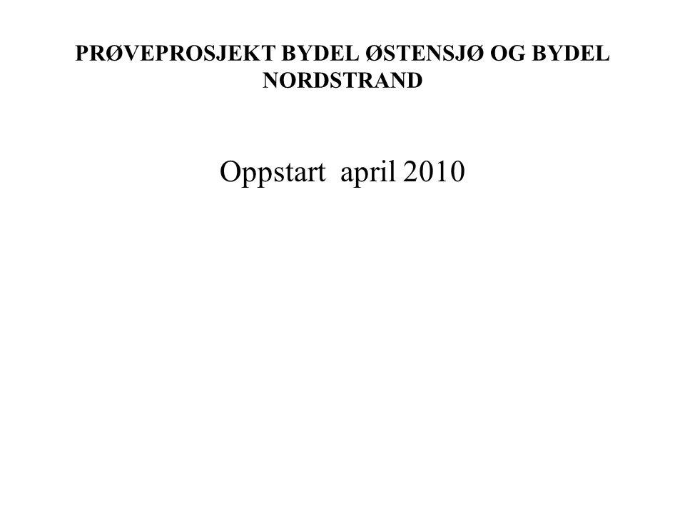 PRØVEPROSJEKT BYDEL ØSTENSJØ OG BYDEL NORDSTRAND Oppstart april 2010