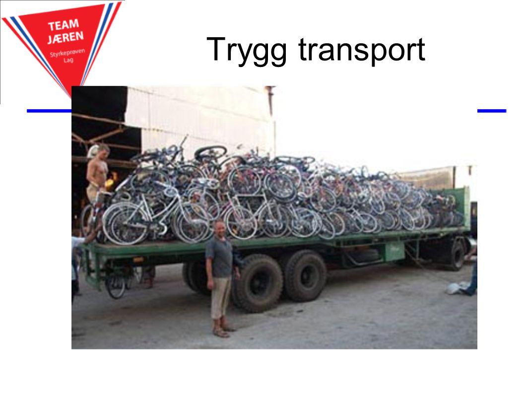 Trygg transport Hotell sentralt i Trondheim og Oslo Fullt støtteapparat i rittet