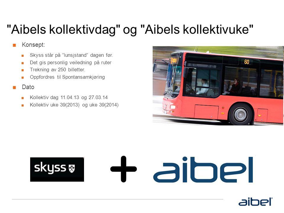Aibels kollektivdag og Aibels kollektivuke ■ Konsept: ■ Skyss står på lunsjstand dagen før.
