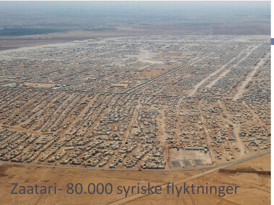 Zaatari- 80.000 syriske flyktninger