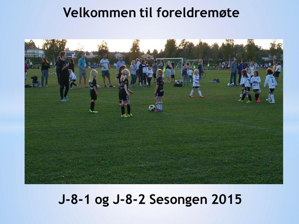 Velkommen til foreldremøte J-8-1 og J-8-2 Sesongen 2015