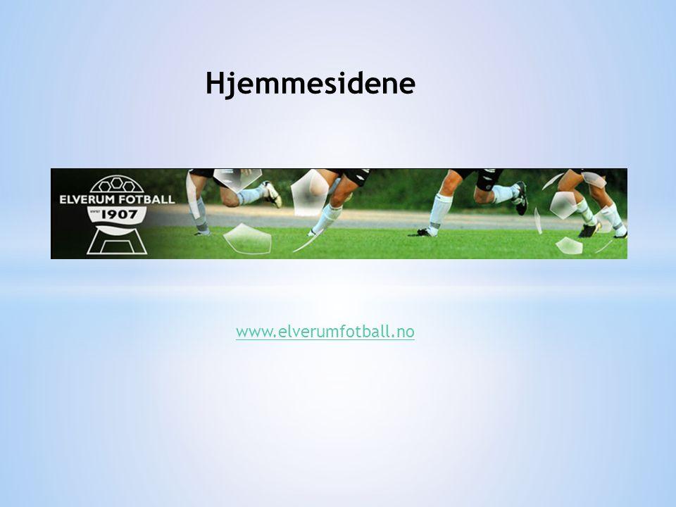 Hjemmesidene www.elverumfotball.no