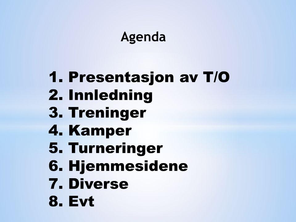 Agenda 1. Presentasjon av T/O 2. Innledning 3. Treninger 4.