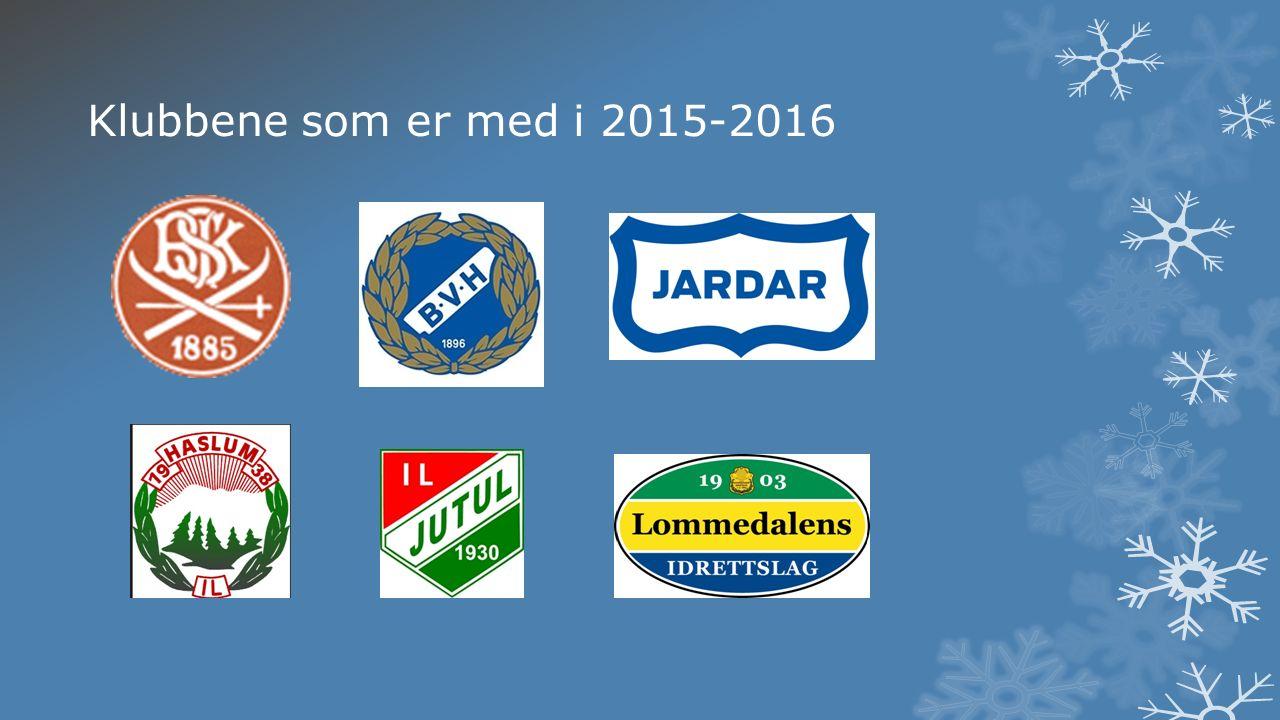 Klubbene som er med i 2015-2016