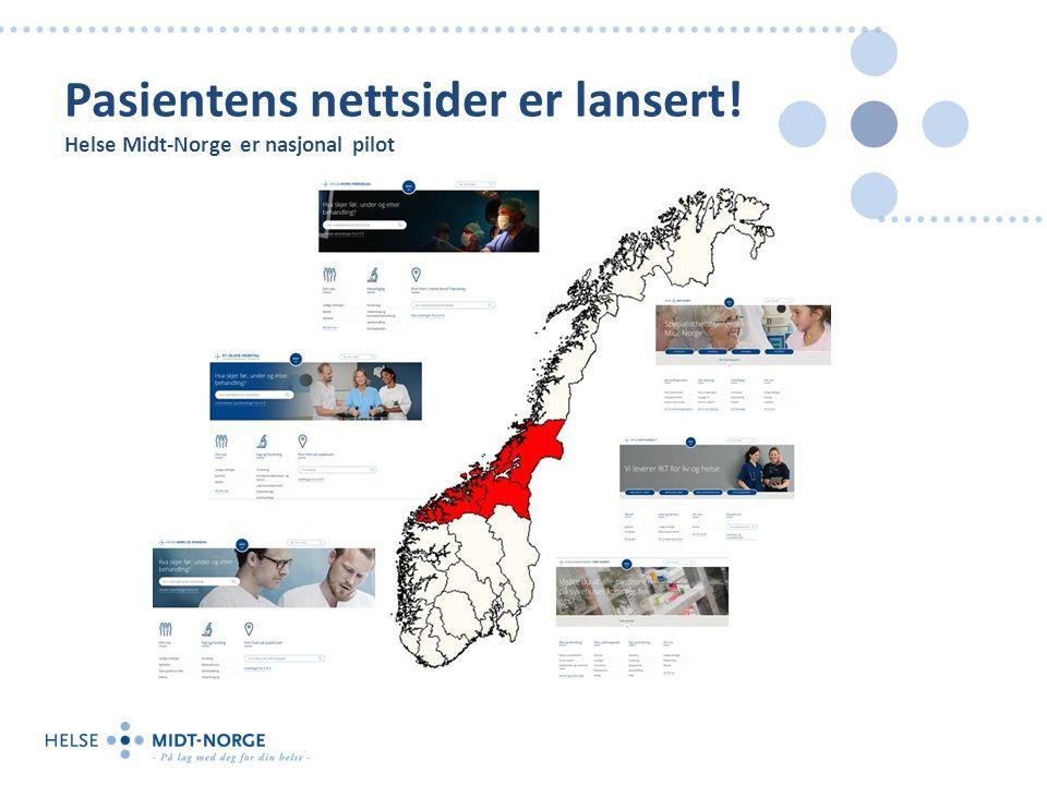 Pasientens nettsider er lansert! Helse Midt-Norge er nasjonal pilot