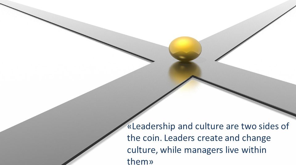«Leadership and culture are two sides of the coin.