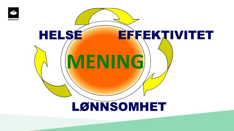 MENING HELSE EFFEKTIVITET LØNNSOMHET