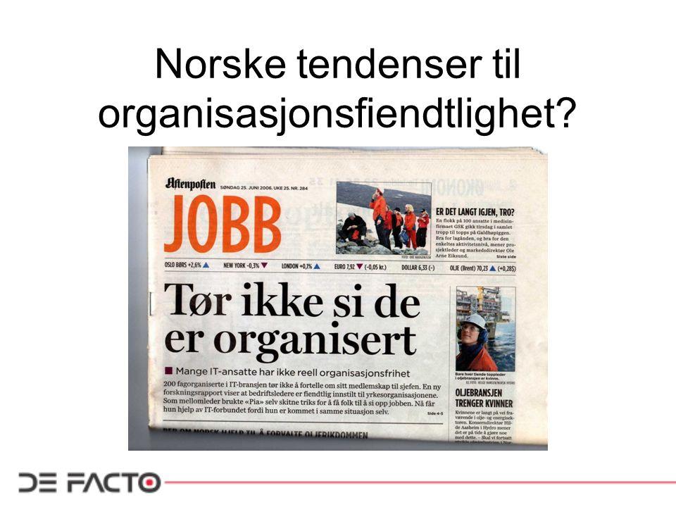 Norske tendenser til organisasjonsfiendtlighet