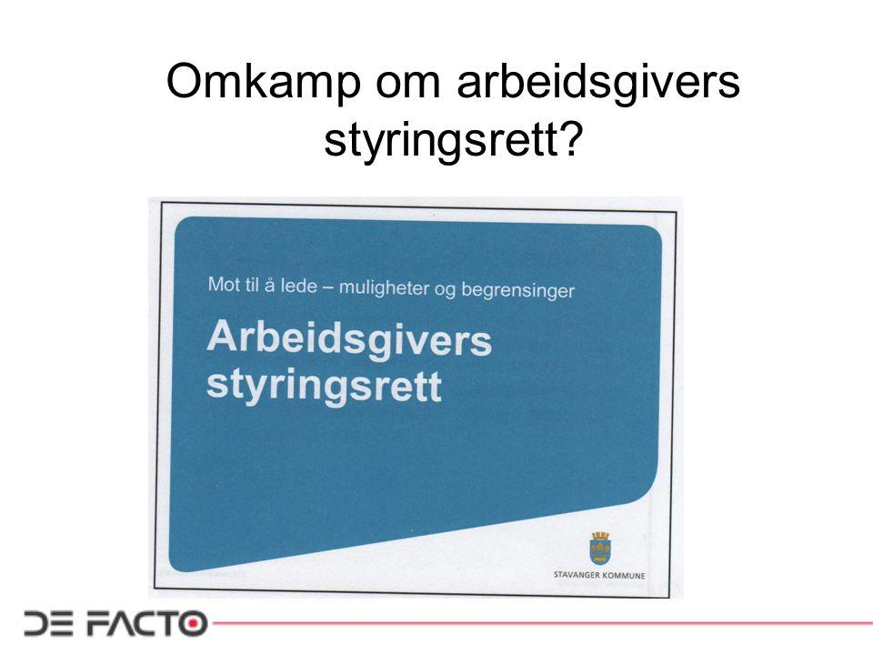 Norske tendenser til organisasjonsfiendtlighet.