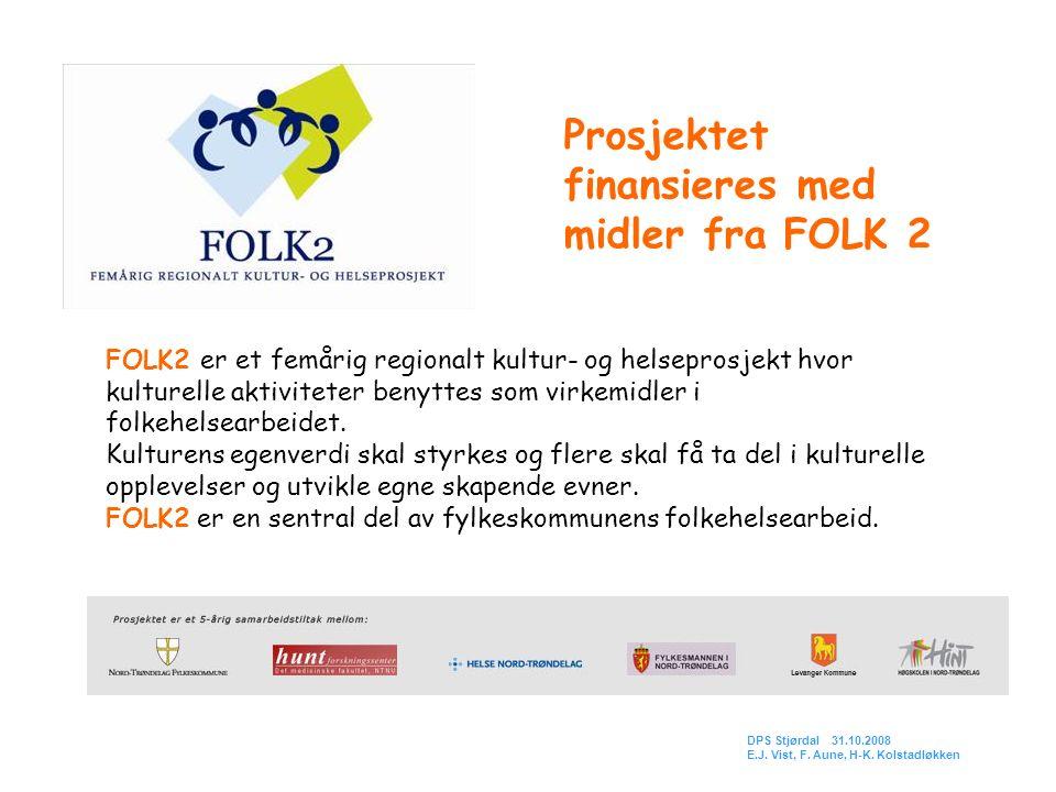 FOLK2 er et femårig regionalt kultur- og helseprosjekt hvor kulturelle aktiviteter benyttes som virkemidler i folkehelsearbeidet. Kulturens egenverdi
