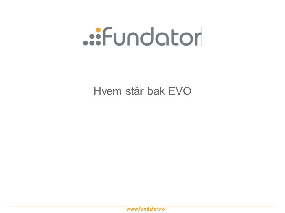 www.fundator.no EVO som metode – Krav - Oppgave Slide 14 Ett eller annet system trenger mulighet for å registrere personer.