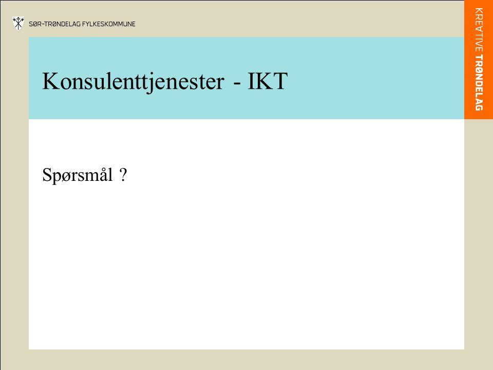 Konsulenttjenester - IKT Spørsmål