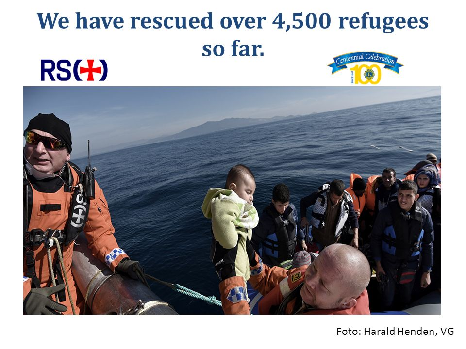 We have rescued over 4,500 refugees so far. Foto: Harald Henden, VG