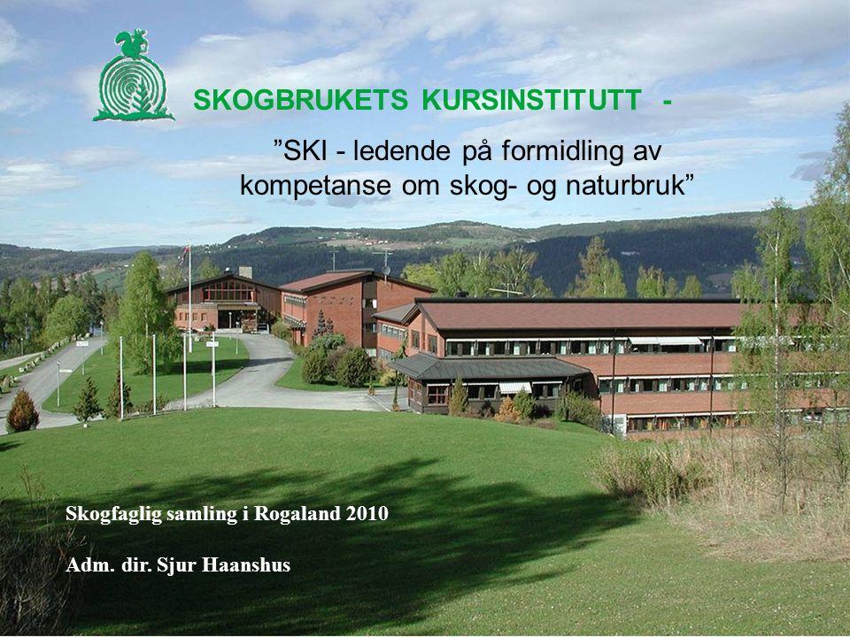 SKOGBRUKETS KURSINSTITUTT - SKI - ledende på formidling av kompetanse om skog- og naturbruk Skogfaglig samling i Rogaland 2010 Adm.
