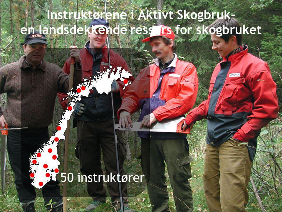 Instruktørene i Aktivt Skogbruk- en landsdekkende ressurs for skogbruket 50 instruktører