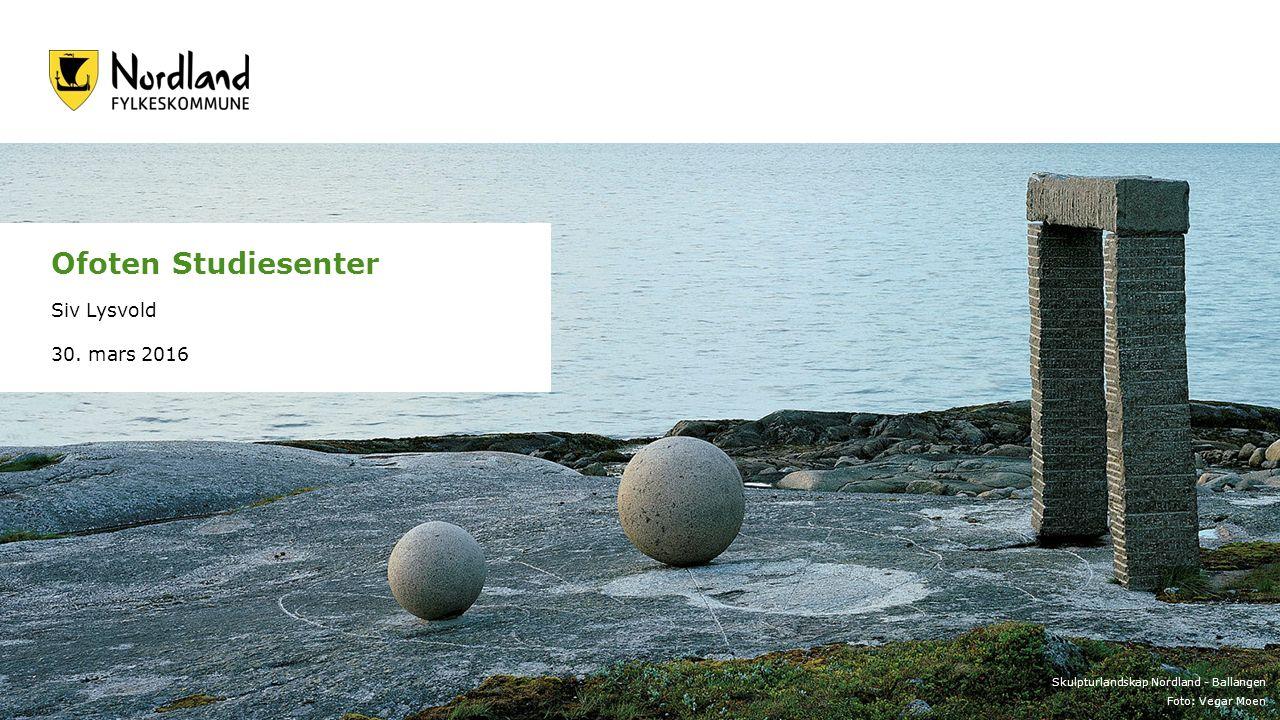 Skulpturlandskap Nordland - Ballangen Foto: Vegar Moen Ofoten Studiesenter Siv Lysvold 30.