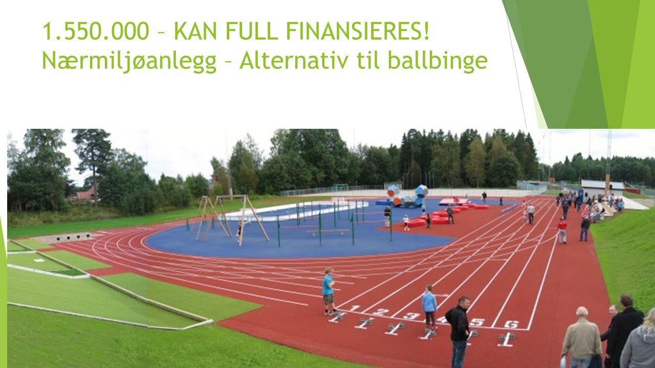 1.550.000 – KAN FULL FINANSIERES! Nærmiljøanlegg – Alternativ til ballbinge