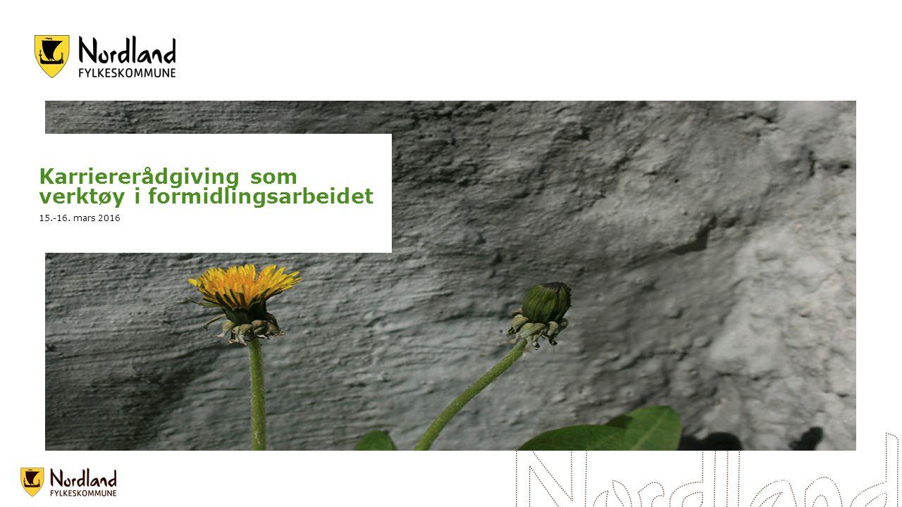 Skulpturlandskap Nordland - Ballangen Foto: Vegar Moen Karriererådgiving som verktøy i formidlingsarbeidet 15.-16. mars 2016