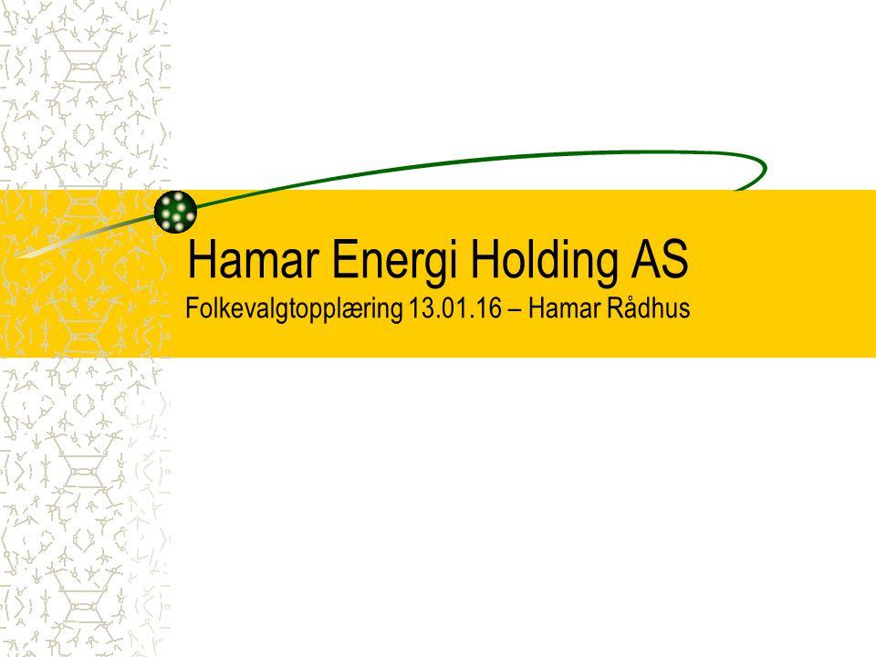 Hamar Energi Holding AS Folkevalgtopplæring 13.01.16 – Hamar Rådhus