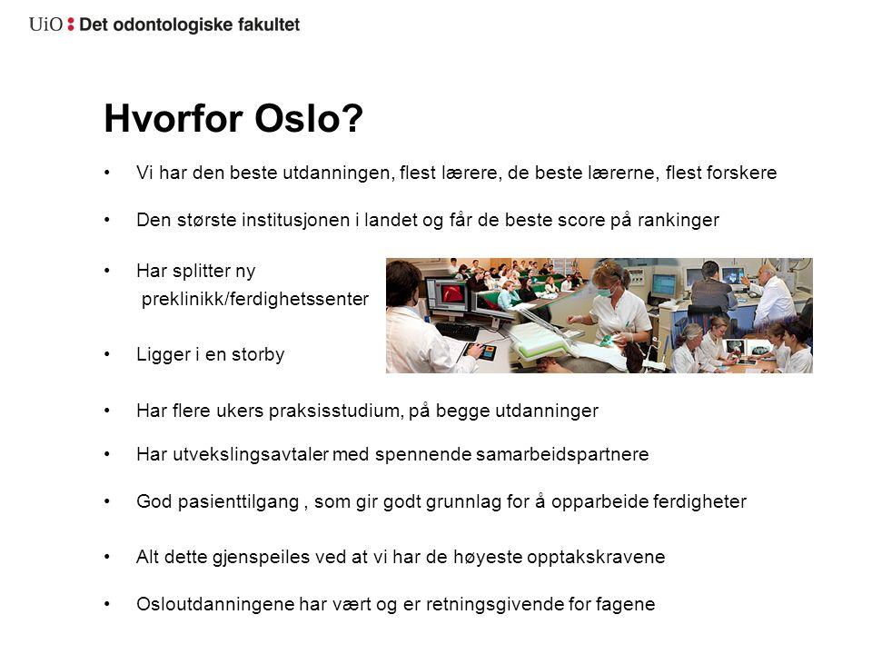 Hvorfor Oslo.