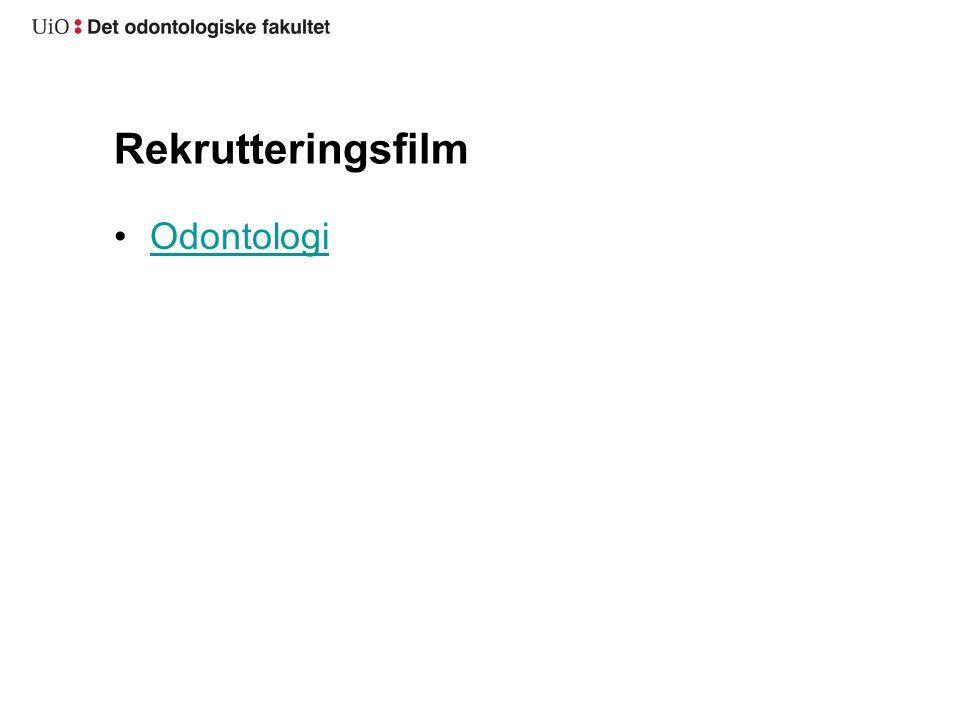 Rekrutteringsfilm Odontologi