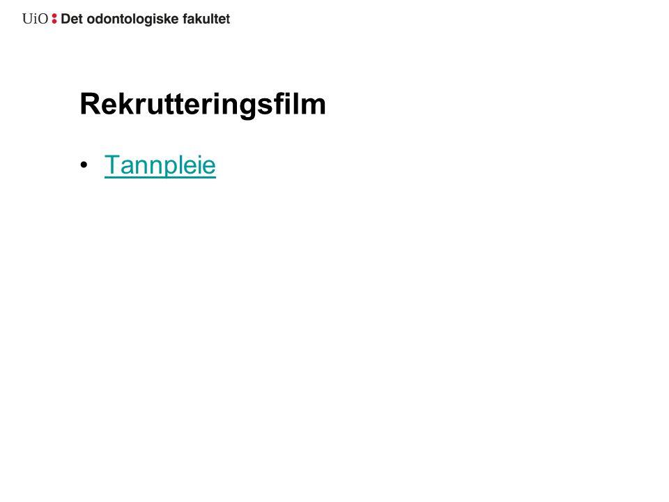 Rekrutteringsfilm Tannpleie