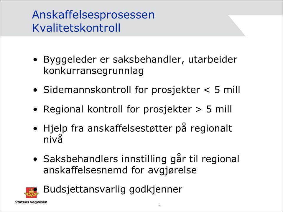5 Statens vegvesens byggherrestrategi Byggherrefunksjonen i Statens vegvesen skal ta ansvar for og legge til rette for at det utvikles et sunt og velfungerende marked.
