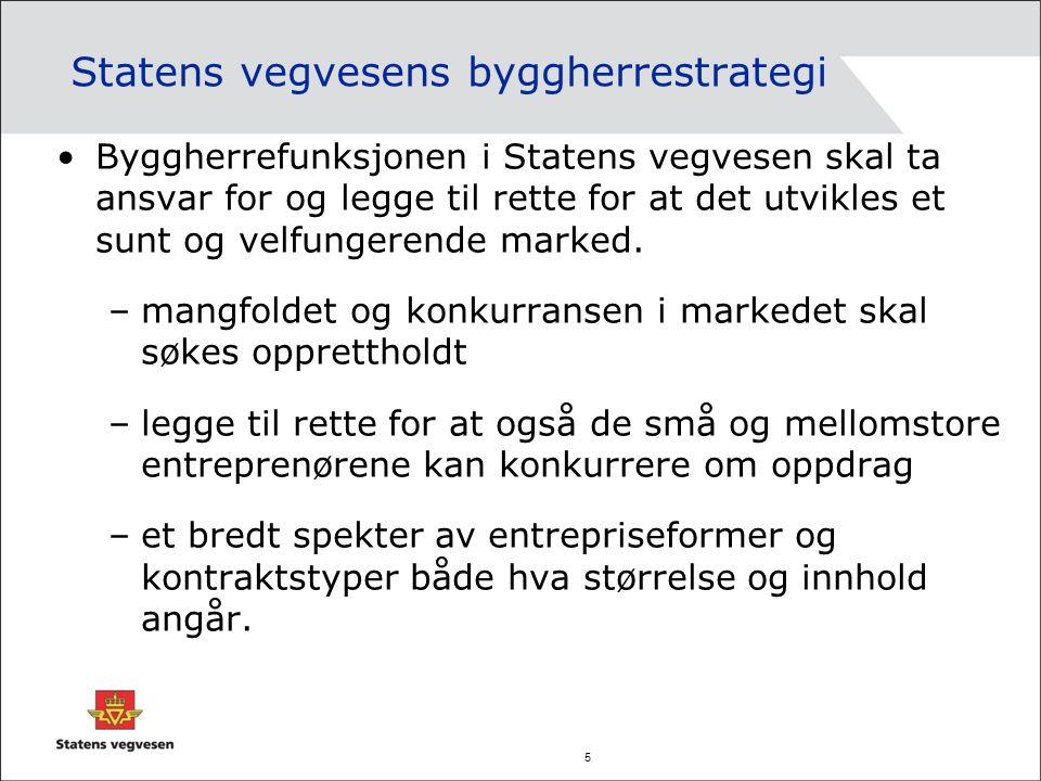 6 Vegvesenets prosjektportefølje i område Midtre Hålogaland Totalt forbruk investering+ D&V i 2011 ca 350 mill Fordeler seg på ca 50 kontrakter: –Investering fylkesveger i Troms ca 66 mill –Investering fylkesveger i Nordland ca 85 mill –Investering riksveger MH ca 29 mill –Drift & vedlikehold –Fv Troms ca 38,6 mill –Fv Nordland ca 66,5 mill –Rv ca 62,3 mill