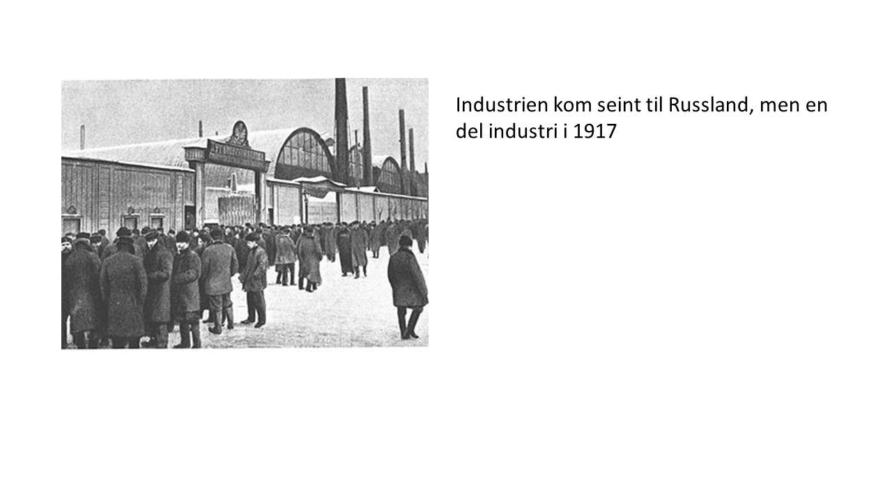 Industrien kom seint til Russland, men en del industri i 1917