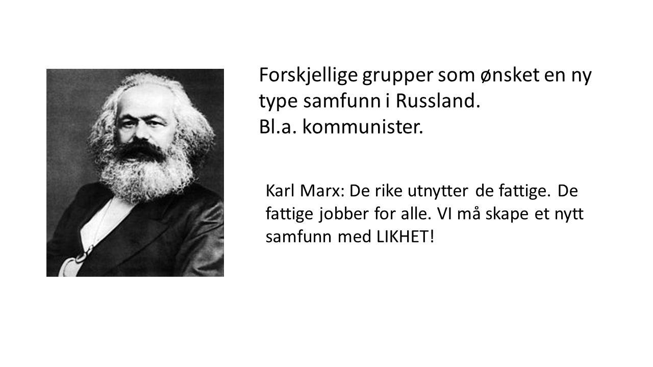 Slik så Karl Marx på det kapitalistiske samfunnet: Noen få styrte alle i samfunnet.
