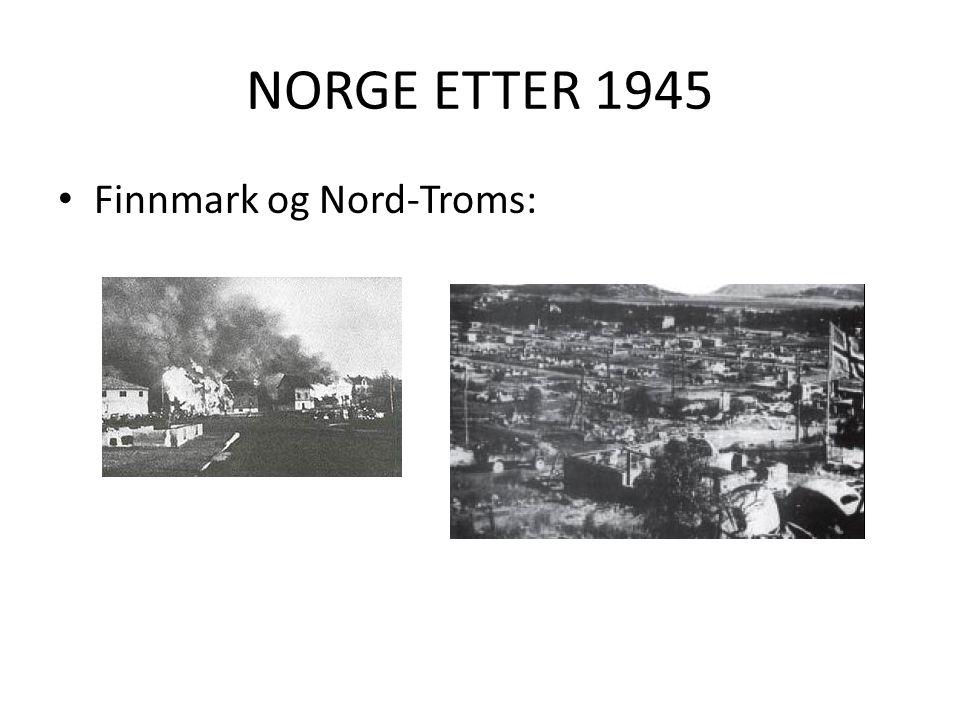 NORGE ETTER 1945 Finnmark og Nord-Troms: