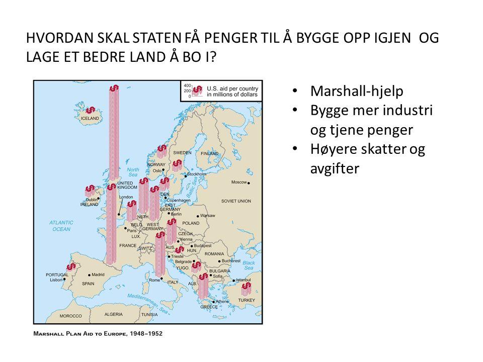HVORDAN SKAL STATEN FÅ PENGER TIL Å BYGGE OPP IGJEN OG LAGE ET BEDRE LAND Å BO I.
