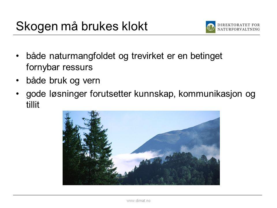 Biologisk mangfold i skog Viktig å være klar over skoghistorien.