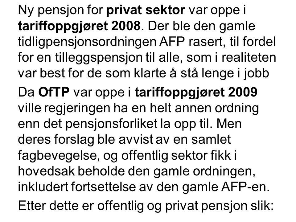 Ny pensjon for privat sektor var oppe i tariffoppgjøret 2008.