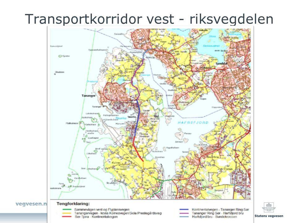 Transportkorridor vest - riksvegdelen