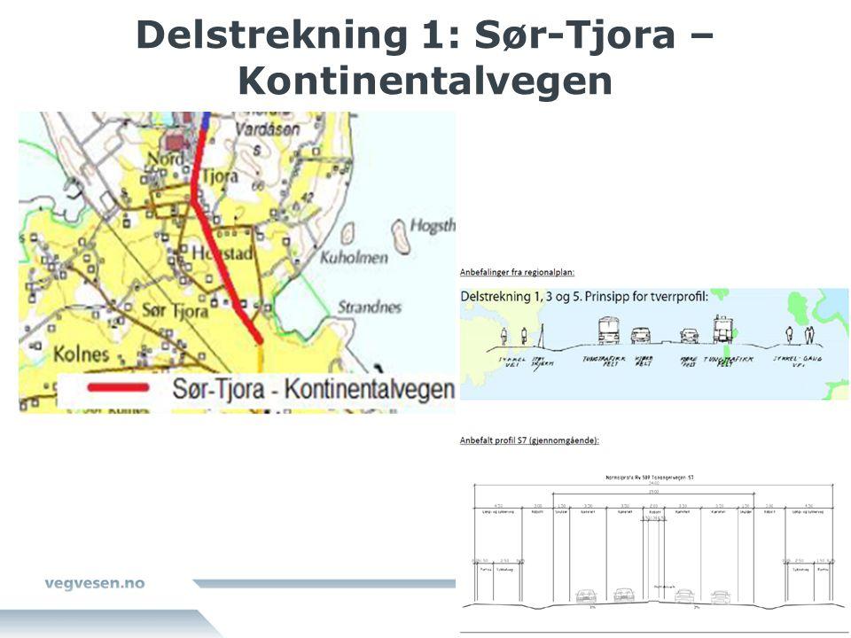 Delstrekning 1: Sør-Tjora – Kontinentalvegen