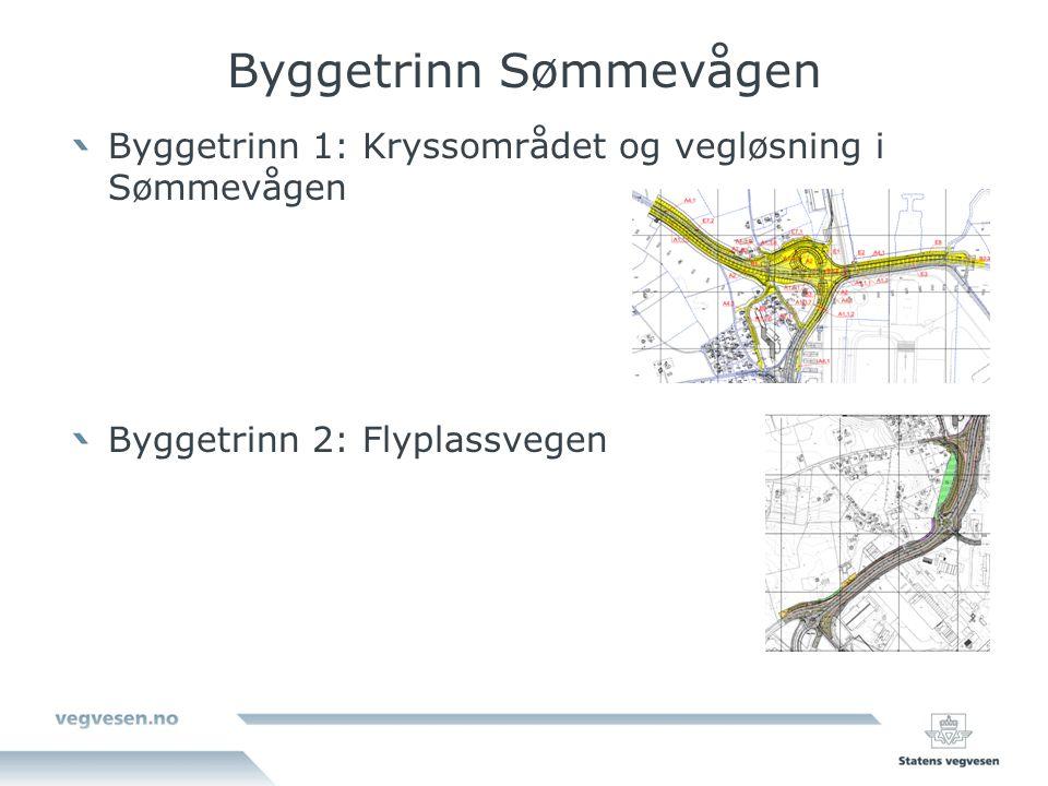 Byggetrinn Sømmevågen Byggetrinn 1: Kryssområdet og vegløsning i Sømmevågen Byggetrinn 2: Flyplassvegen
