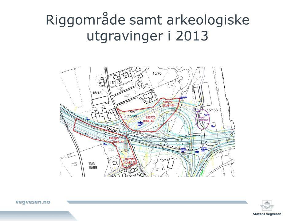 Riggområde samt arkeologiske utgravinger i 2013