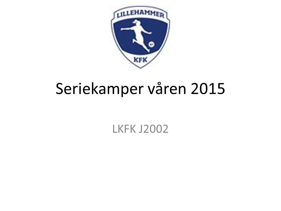 Seriekamper våren 2015 LKFK J2002