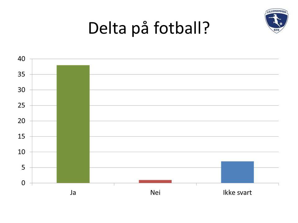 Delta på fotball?