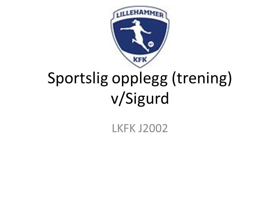 Sportslig opplegg (trening) v/Sigurd LKFK J2002